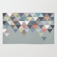 nordic Area & Throw Rugs featuring Nordic Combination 20 by Mareike Böhmer