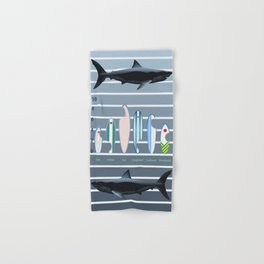 Shark Week - A balanced diet is essential  Hand & Bath Towel