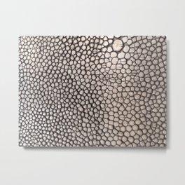 Stingray Skin - Close Up Photograph Metal Print