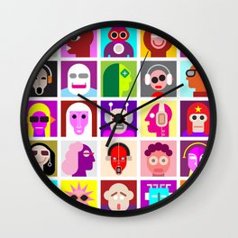 Avatars Wall Clock
