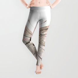 Butterfly flutter - soft peach Leggings