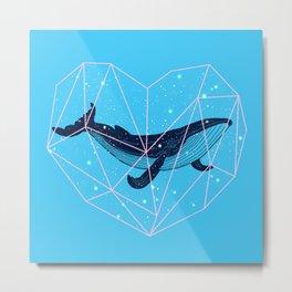 Whale in My Heart Metal Print