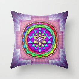 Sri Yantra VII.IX Throw Pillow