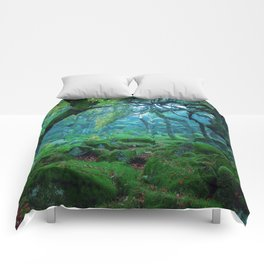 Enchanted forest mood Comforters