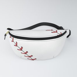 Softball Baseball design red laces Fanny Pack