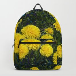 LOVE FIRST SPRING YELLOW DANDELIONS Backpack
