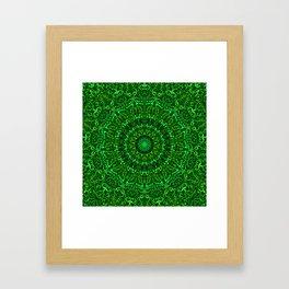 Green Spiritual Mandala Garden Framed Art Print