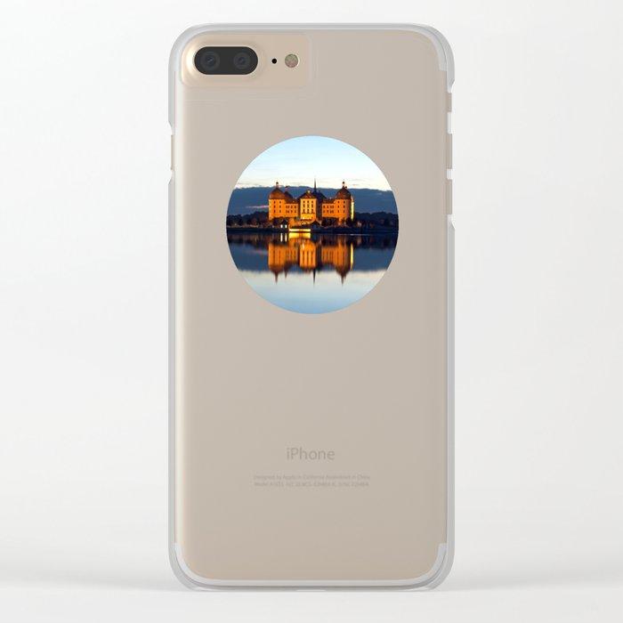 Fairy tale Castle - Moritzburg blue hour Clear iPhone Case