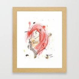 League of Legends - Katarina Watercolour Framed Art Print