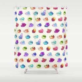 Jewel Snail - pastel Shower Curtain