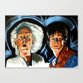 Doc and Marty. Canvas Print