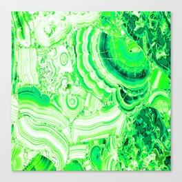 Malachite Green Canvas Print