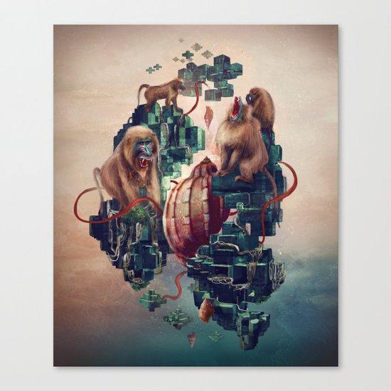 monkey temple Canvas Print