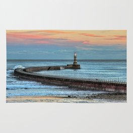 Roker Pier and Lighthouse Rug