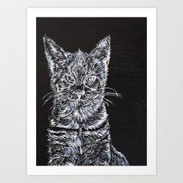 CAT JIM Art Print