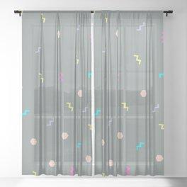 Retro Party Sheer Curtain
