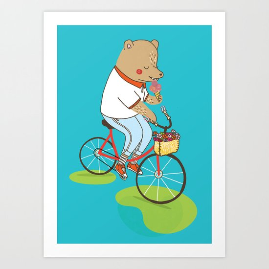 Berlin Summer Ride Art Print