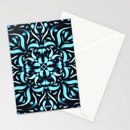 Meditation Flower - Icy Flames Mandala - Boho Fire Stationery Cards