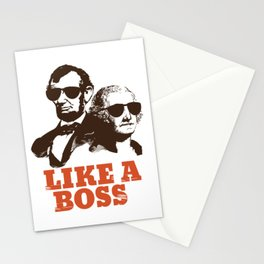 Like A Boss Funny and Hilarious President's Day design Stationery Cards