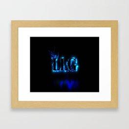 LLG Gaming Logo Framed Art Print