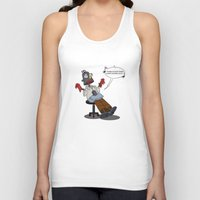 simpson Tank Tops featuring Homero Simpson trabajo duro by POP42