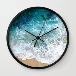Ocean Waves I Wall Clock
