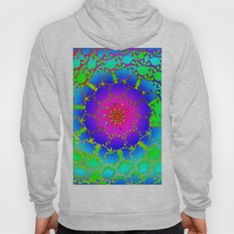 Colored net mandala pattern Hoody