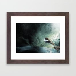 The Intrepid arrives at Carthage - Green Clouds Framed Art Print