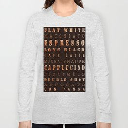 Coffee Types Poster Long Sleeve T-shirt