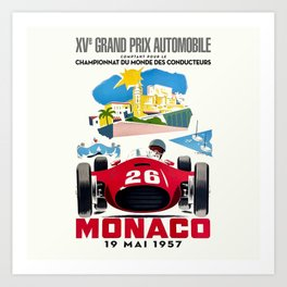 Classic Grand Prix Poster Art Print