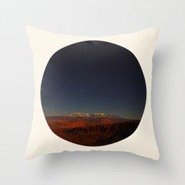 Grand Canyon Sunset Blue & Orange Colors Circle Photo Throw Pillow