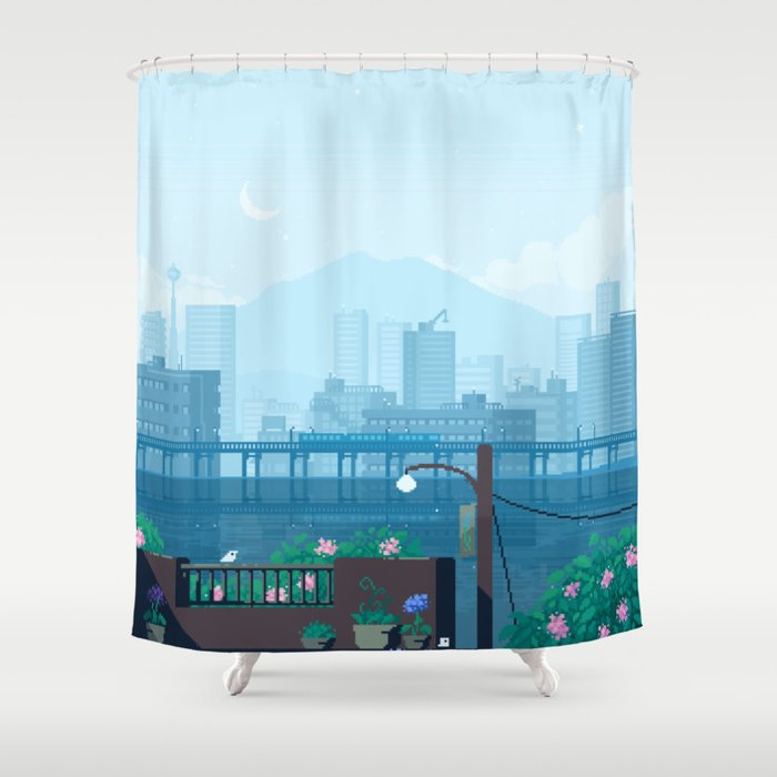 Seattle Morning Shower Curtain By Software