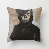 goth Throw Pillows featuring Goth by Rick Onorato