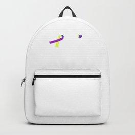 Bladder Cancer Awareness design Backpack