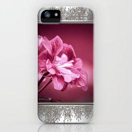 Ivy Geranium named Contessa Purple Bicolor iPhone Case
