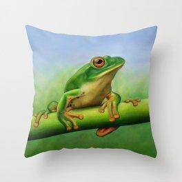 Moltrecht's Green Treefrog Throw Pillow