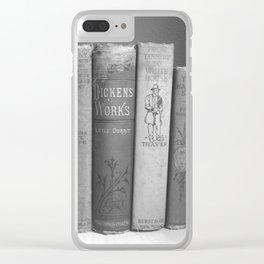 Old Worn Books Clear iPhone Case