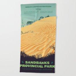 Sandbanks Provincial Park Poster Beach Towel