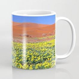 Flowers in the Namib desert, Namibia Coffee Mug