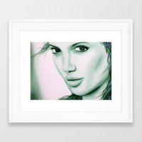 angelina jolie Framed Art Prints featuring Angelina Jolie by Lucky art