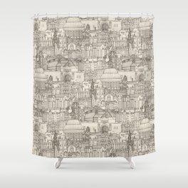 Edinburgh toile natural Shower Curtain
