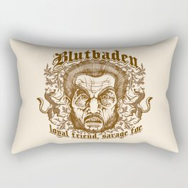 Blutbaden Sepia Rectangular Pillow