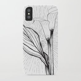 Lily in Black and White iPhone Case
