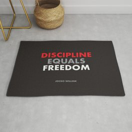 """Discipline Equals Freedom"" Jocko Willink Rug"