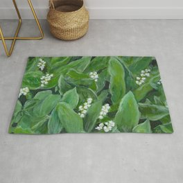 Lily of the valley painting Rug