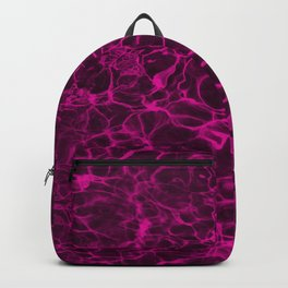 Hot Neon Pink Magic Fire Water Backpack