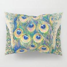 Blue Peacocks Pillow Sham