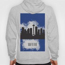 Seattle skyline silhouette Hoody