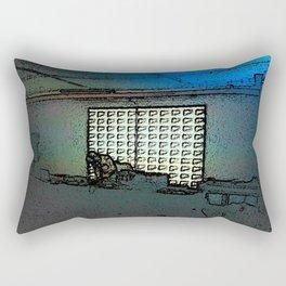 BLACK Electronic Underground #1 Rectangular Pillow