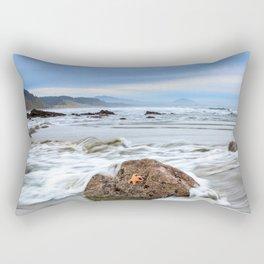 A Starfish Hangs on for Dear Life Rectangular Pillow